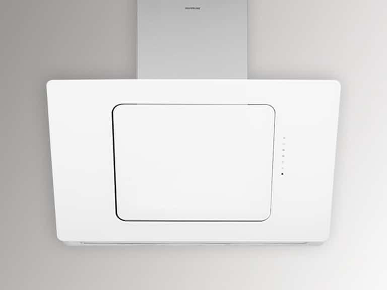 Korpus Edelstahl / Weißglas, 80 cm