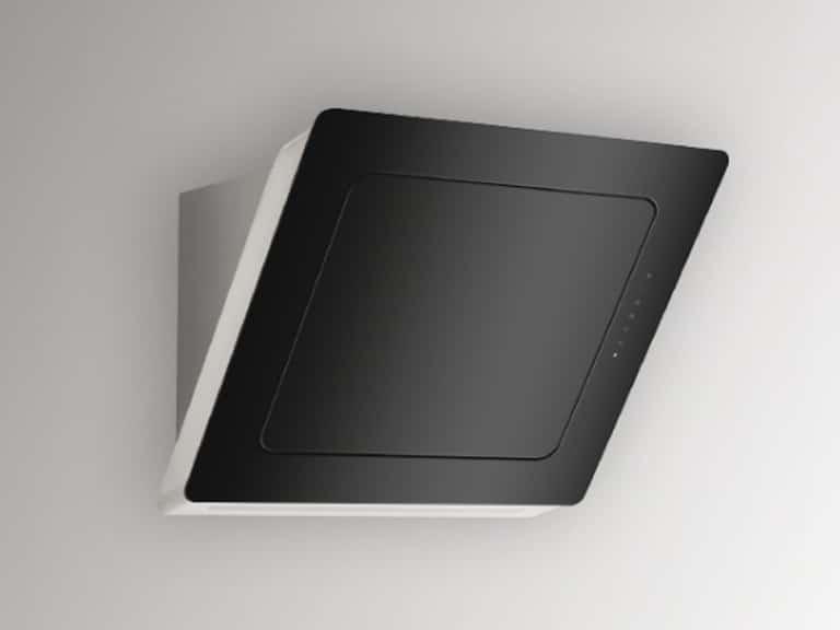Korpus und Schacht Edelstahl / Schwarzglas, 60 cm, ohne Schacht<br /> Darstellung ohne Umluftabdeckung