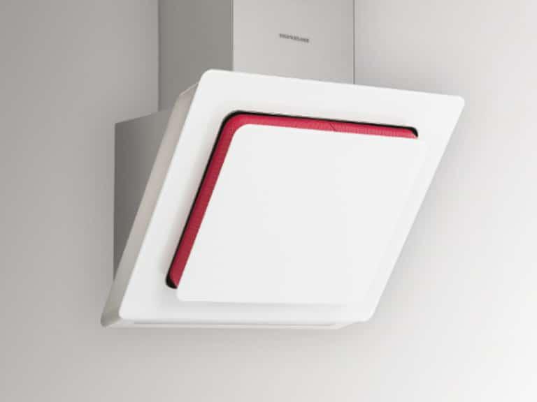 Korpus und Schacht Edelstahl / Weißglas, 60 cm, Filterrahmen Farbe Pink