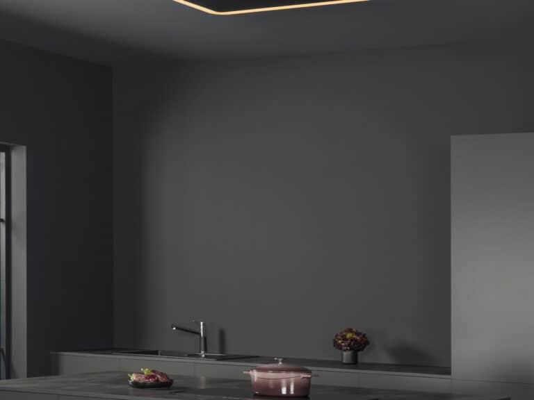 Schwarz / Schwarzglas, 120 cm, RGB-Beleuchtung