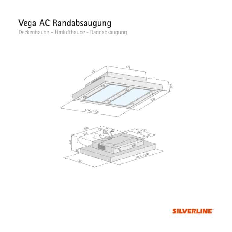 Maßzeichnung Vega AC Randabsaugung