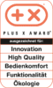 Plus X Award – Innovation, High Quality, Bedienkomfort, Funktionalität, Ökologie