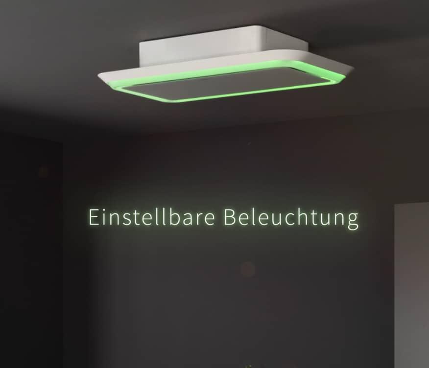 Side Lighted – Lichtkünstler für die Kochwelt von heute. Das Umluft-Deckenmodell Side Lighted setzt mit schnörkellosem Design und klaren Formen neue Maßstäbe.
