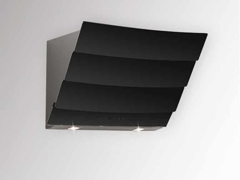 Schwarzer Korpus / Schwarzglas, 60 cm, ohne Schacht
