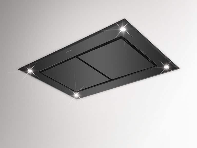 Schwarzglas, 100 cm