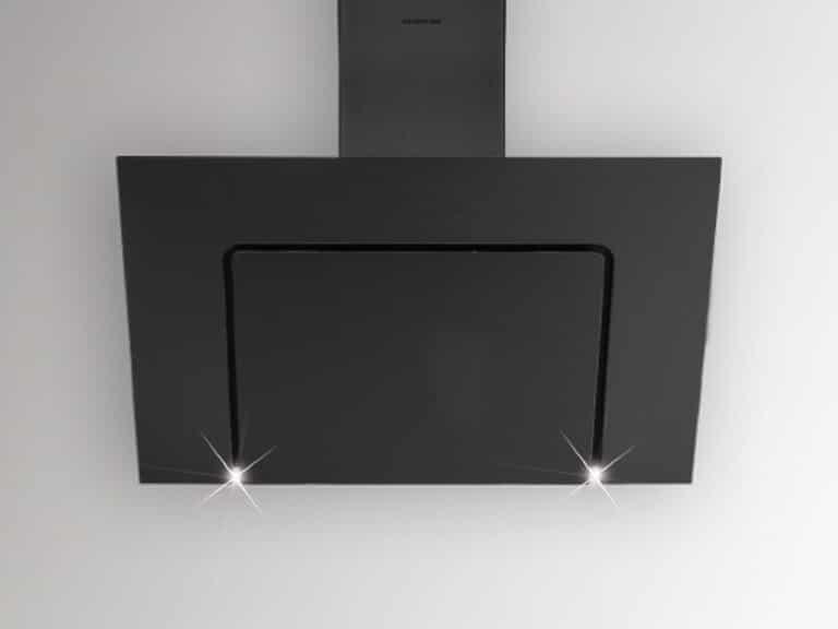Schwarzer Schacht und Korpus / Schwarzglas, 80 cm