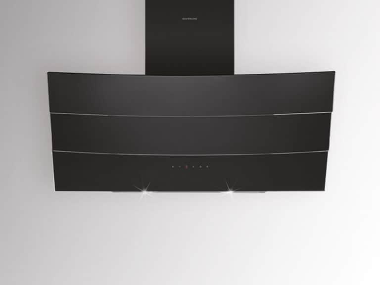 Schwarzer Korpus und Schacht / Schwarzglas, 80 cm