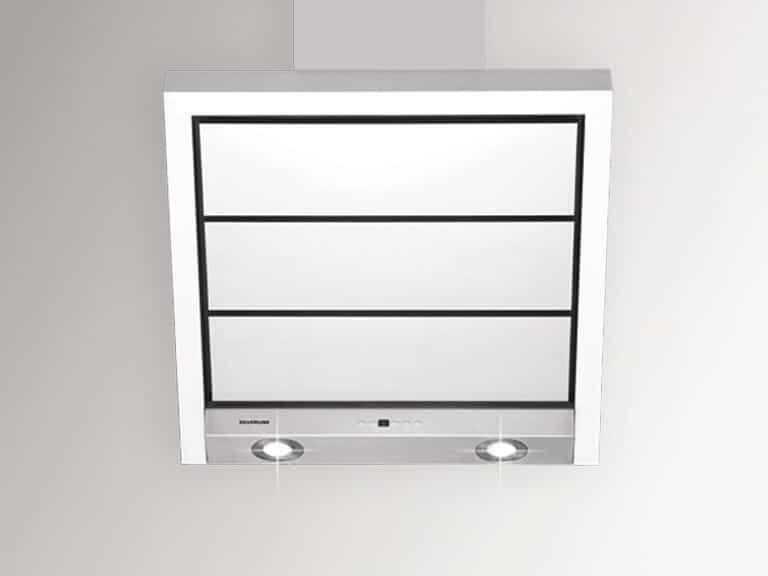 Korpus, Schacht und Randabsaugungsplatten Edelstahl, Frontalansicht, 60 cm