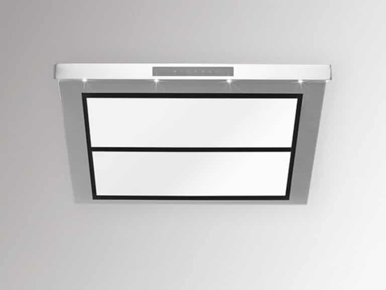 Korpus Edelstahl / Weißglas, ohne Schacht<br /> Darstellung ohne Umluftabdeckung