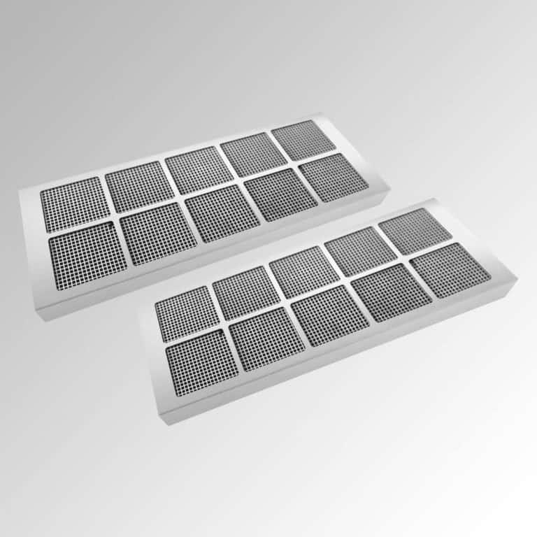 2 x Aktivkohle-Wabenfilter, Edelstahl für Ausführung in Edelstahl (bis zu 10 x regenerierbar)