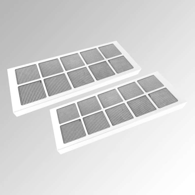 2 x Aktivkohle-Wabenfilter, weiß für weiße Ausführung (bis zu 10 x regenerierbar)