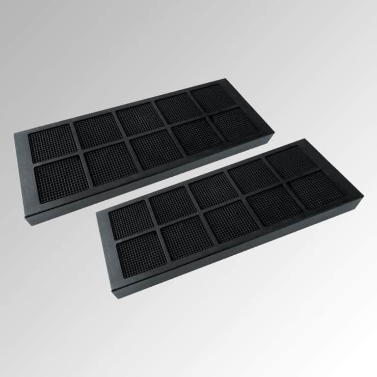 2 x Aktivkohle-Wabenfilter, schwarz für schwarze Ausführung (bis zu 10 x regenerierbar)