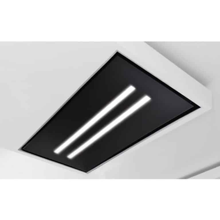 Glasplatte mit LED-Beleuchtung, Schwarzglas 120 x 60 cm