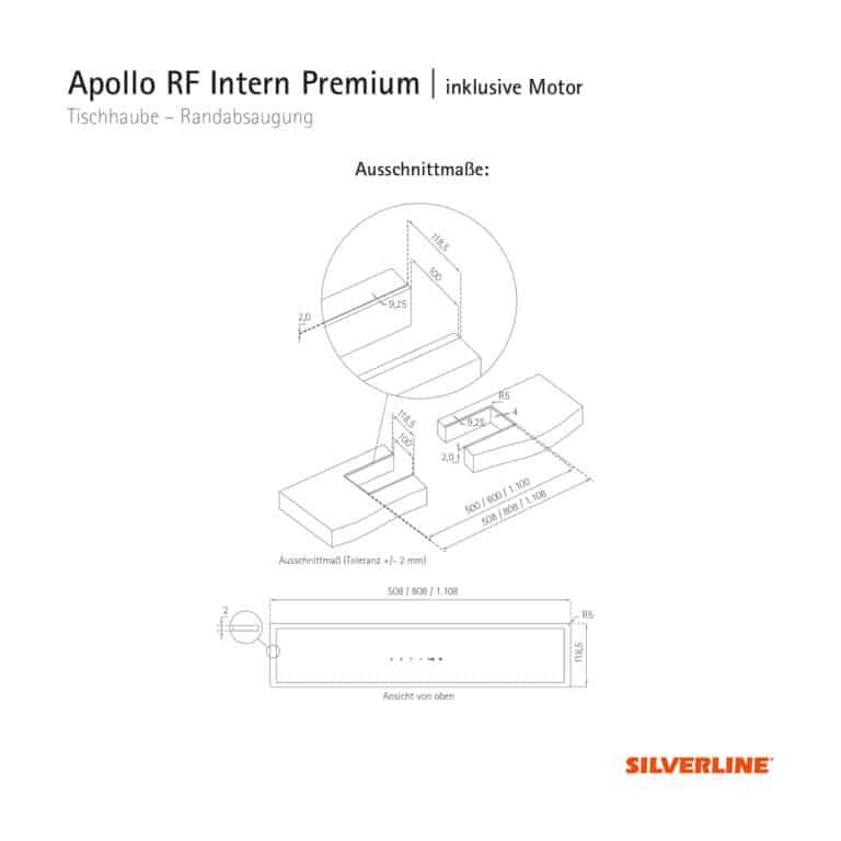 Ausschnittmaße Apollo RF Intern Premium