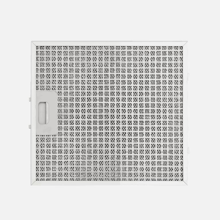 Edelstahl-Metallfettfilter, 12-lagig, Pure Plus (Mattweiß)