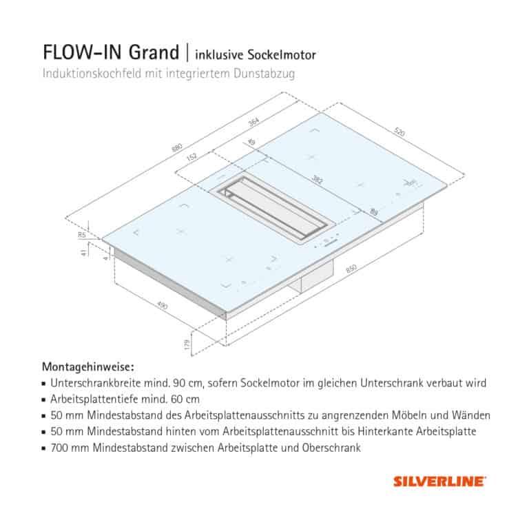 Maßzeichnung FLOW-IN Grand