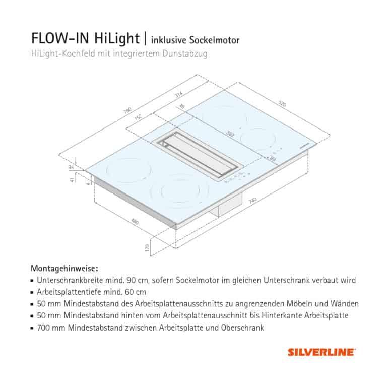 Maßzeichnung FLOW-IN HiLight