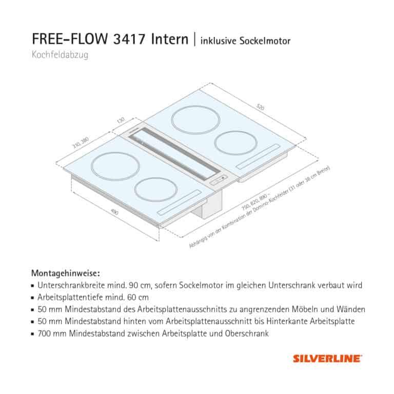 Maßzeichnung FREE-FLOW 3417 Intern