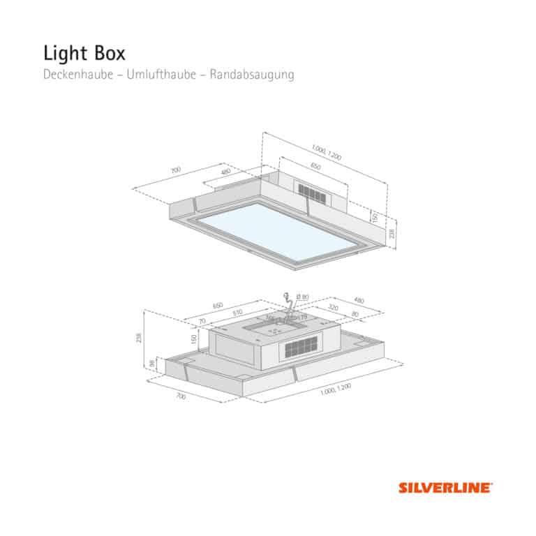 Maßzeichnung Light Box