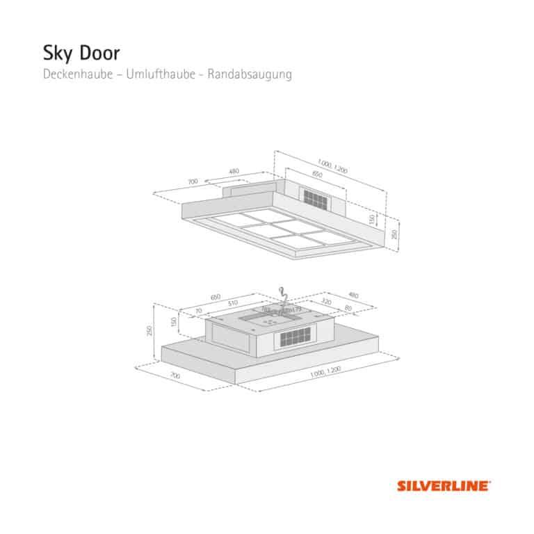 Maßzeichnung Sky Door