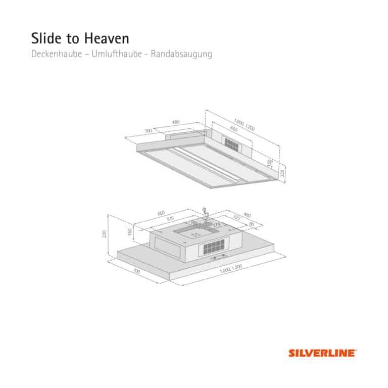 Maßzeichnung Slide to Heaven