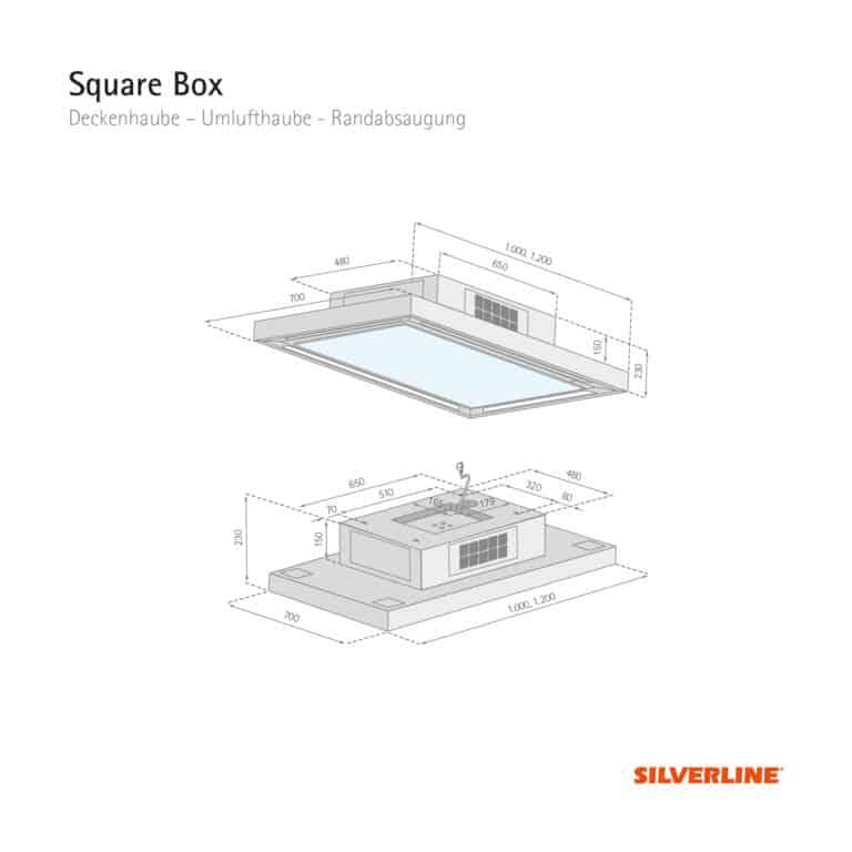 Maßzeichnung SquareBox
