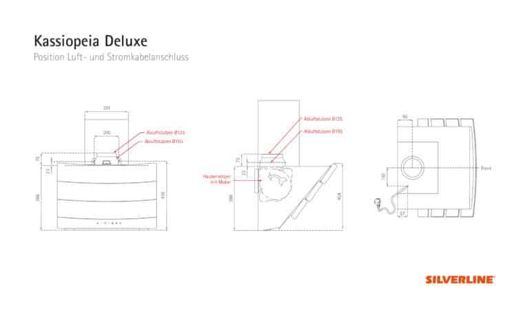 Position Luft- und Stromkabelauslass Kassiopeia Deluxe