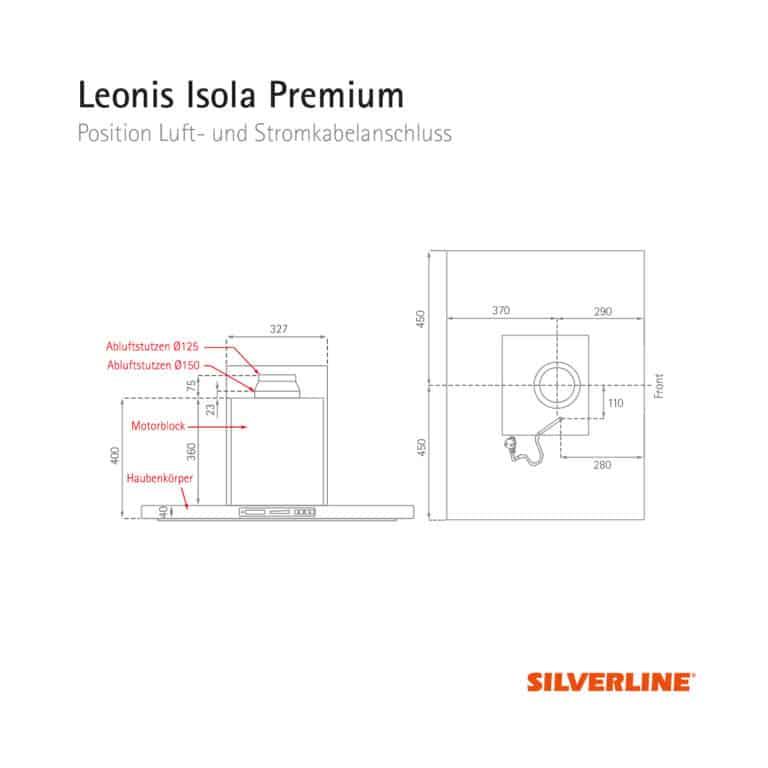 Position Luft- und Stromkabelauslass Leonis Isola Premium