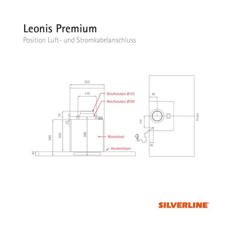 Position Luft- und Stromkabelauslass Leonis Premium