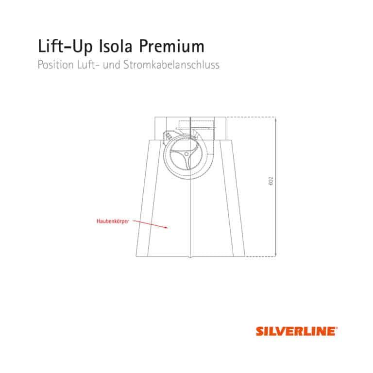 Seitenansicht und Position Motor Lift-Up Isola Premium