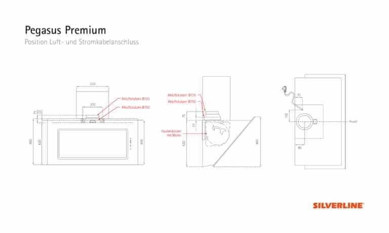 Position Luft- und Stromkabelauslass Pegasus Premium