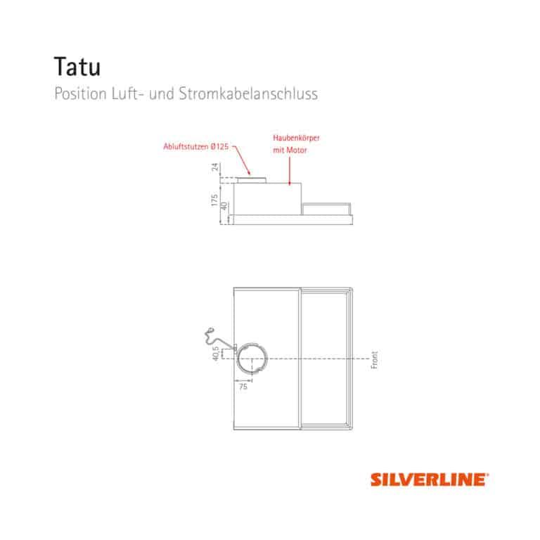 Position Luft- und Stromkabelauslass Tatu