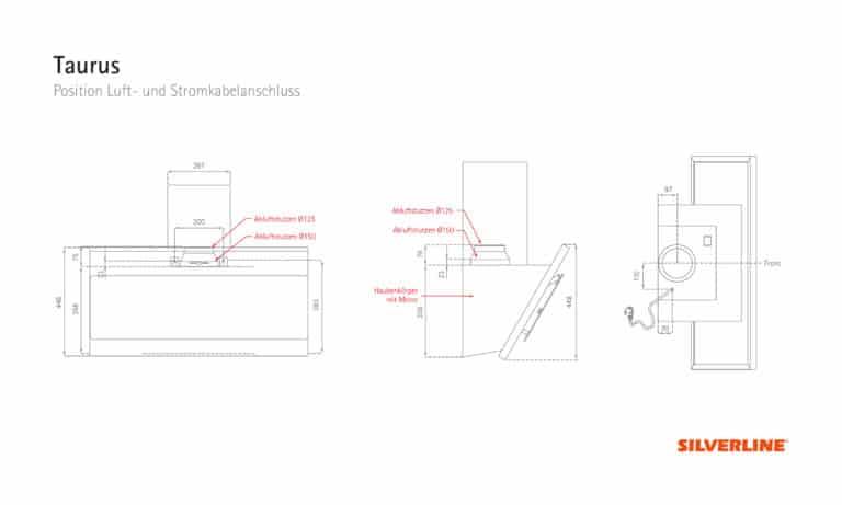 Position Luft- und Stromkabelauslass Taurus