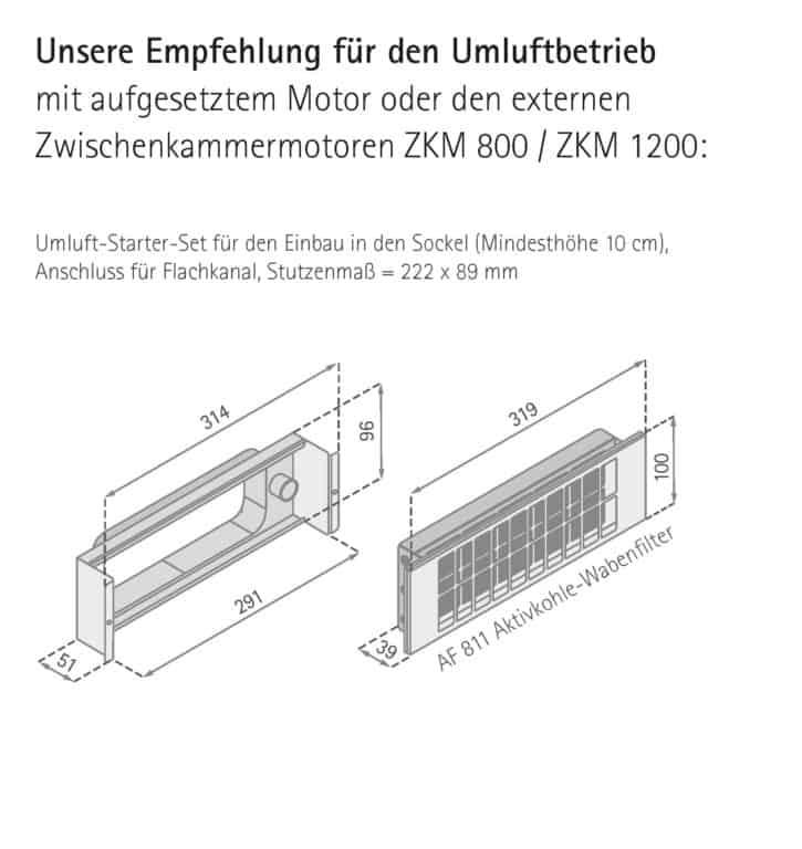Umluft-Starter-Set für den Einbau in den Sockel - Apollo RF Intern Premium