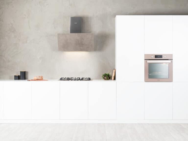 Korpus grau, Luxury Cement, mit Schacht, 80 cm