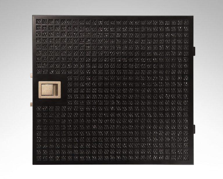 Edelstahl-Metallfettfilter (schwarz), 12-lagig, Pure Plus (Mattschwarz, Anthrazitblau)