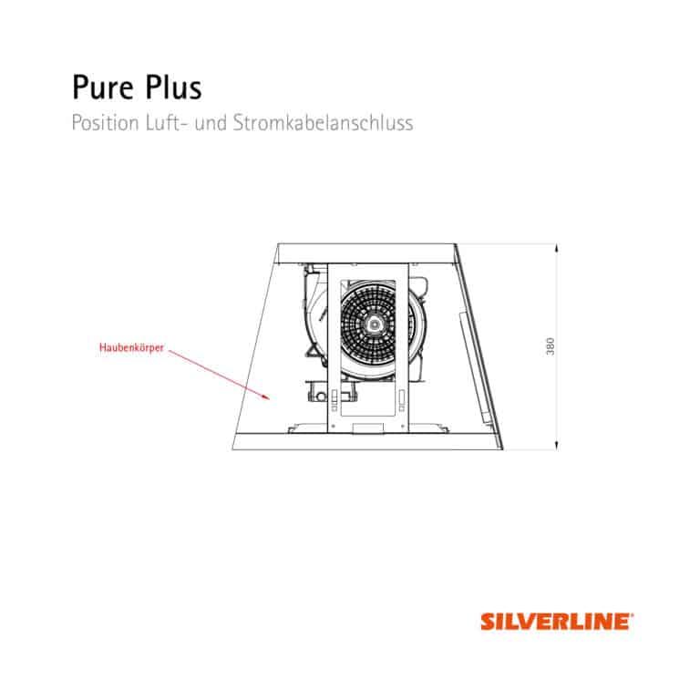 Seitenansicht und Position Motor Pure Plus