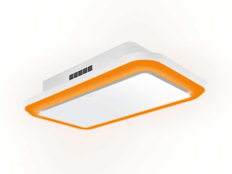 Weiß / Weißglas, 120 cm, RGB-Beleuchtung