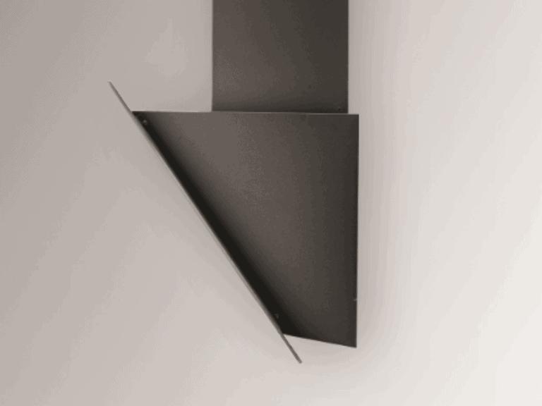 Korpus Schwarz / Schwarzglas, schwarzer Schacht, Seitenansicht