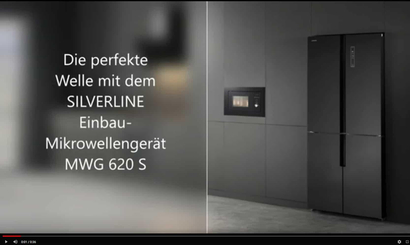 DIE PERFEKTE WELLE – SILVERLINE Mikrowellengerät mit Grill, inkl. Einbaurahmen in Schwarz