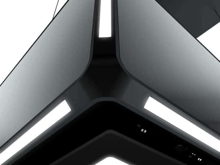 Die eleganten EDGE-LED-Lichtstreifen verleihen der Haube ihre schlanke Silhouette und sind ein absoluter Hingucker.