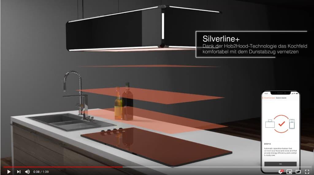 Mehr Atmosphäre mit der SILVERLINE Umluft-Deckenlifthaube Lightline
