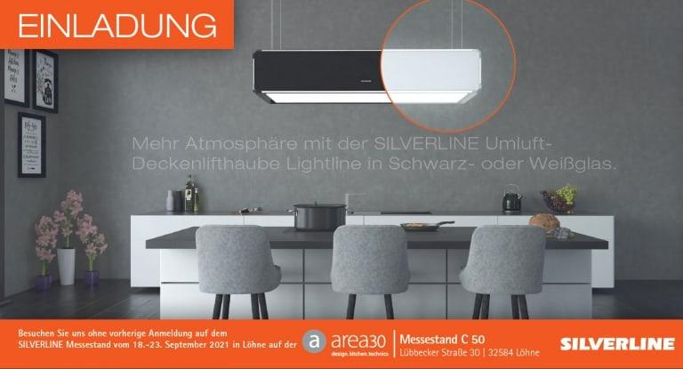 Einladung zur area30 ǀ Stand Nr. C 50 ǀ 18. - 23. September 2021 in Löhne